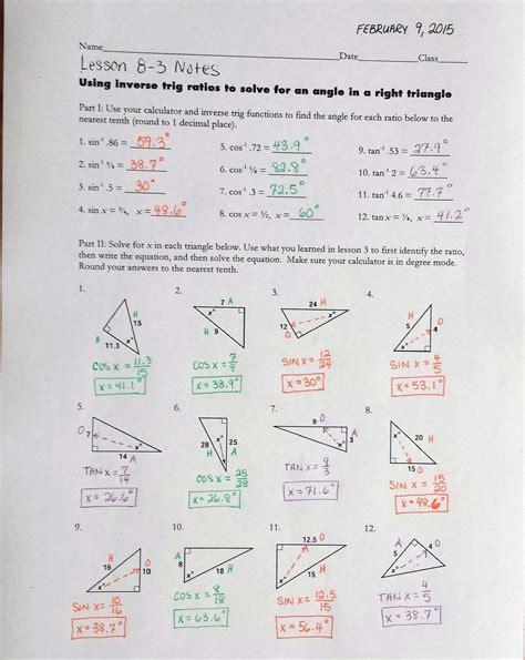 newest lesson 12 1 trigonometric ratios worksheet answers