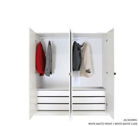 4 door set of hanging wardrobe closets w 6 interior