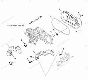 Polaris Atv 2006 Oem Parts Diagram For Clutch Cover