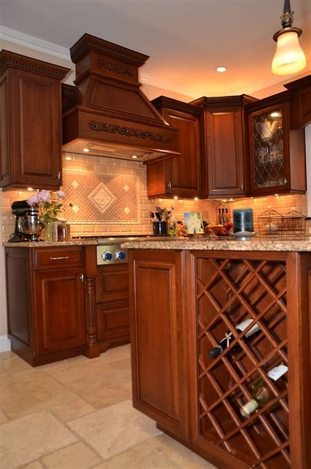 Leaded Glass Cherry Kitchen Wall New Jersey by Design Line