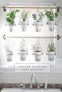 13 peaceful diy indoor garden ideas that brings the for Hanging herb garden indoor