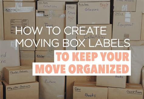 create moving box labels    move organized