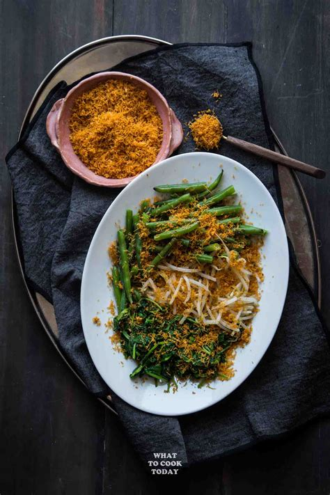 urap sayur salad  spiced grated coconut topping