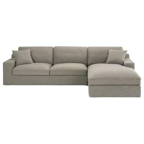 canapé d angle gris tissu canapé d 39 angle droit 5 places en tissu gris stuart