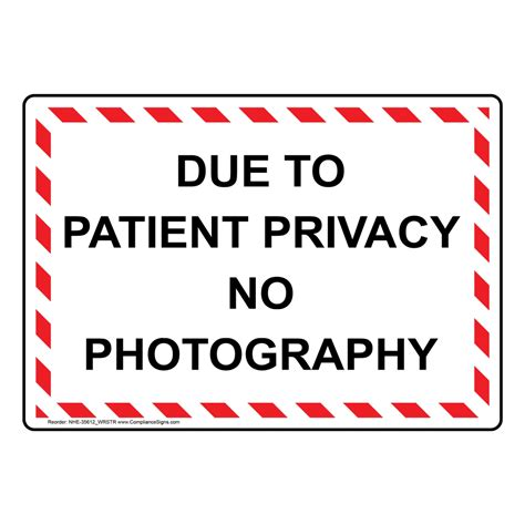 Due To Patient Privacy No Photography Sign Nhe35612wrstr. Irish Signs Of Stroke. Witch Signs. East Side Signs. Ems Signs Of Stroke. Sheet Signs Of Stroke. Atrial Fibrillation Signs. Equivalent Signs Of Stroke. Super Hero Signs