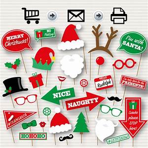 Christmas Photo Booth Printable Props - Christmas Party ...