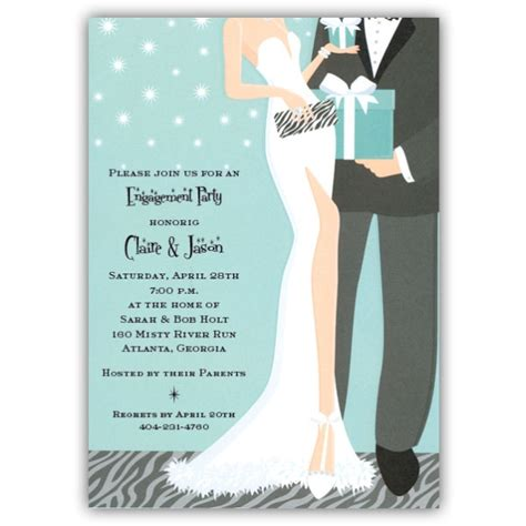 glam couple engagement party invitations paperstyle