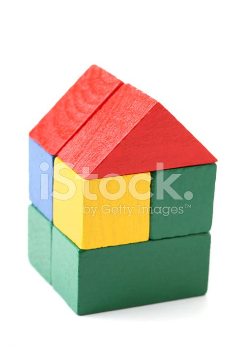 house made of blocks house made of wood blocks stock photos freeimages com