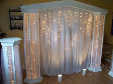 image result     diy lighted wedding columns