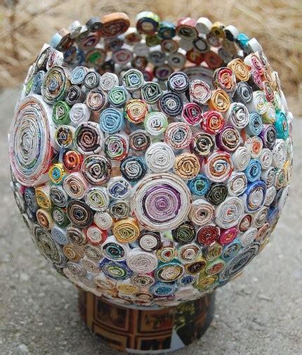 recicla inventa cómo hacer adornos para casa con papel de regalo reciclado tutorial diy
