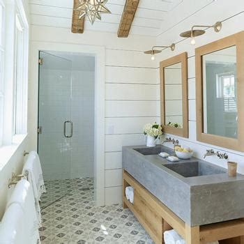 Vanity With Concrete Countertops  Country  Bathroom M