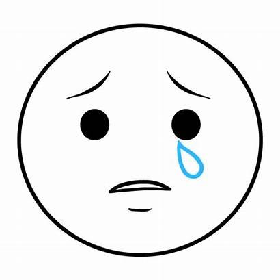 Emoji Crying Draw Drawing Eye Teardrop Shape
