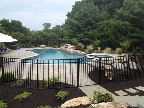 pool fence ideas swimming pools archive landscaping company nj pa custom pools walkways patios fence
