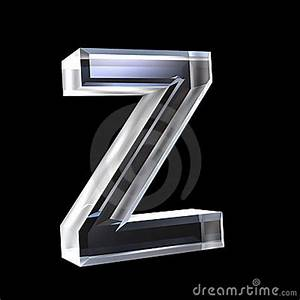 letter z in glass 3d royalty free stock images image With glass letters