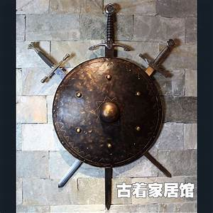 Ancient Rome Knight shield / European sword Samurai armor ...
