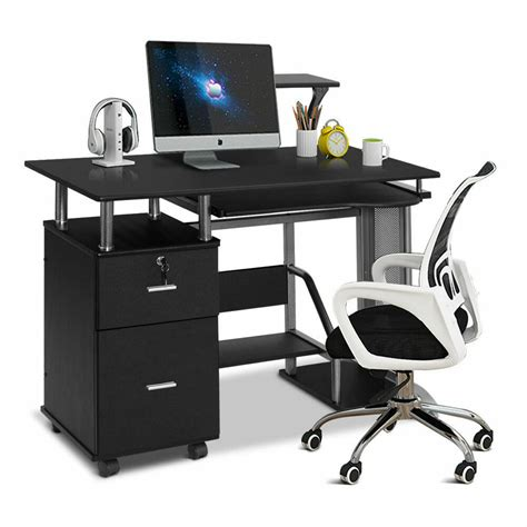 computer desk pc laptop table workstation home office furniture w printer shelf ebay