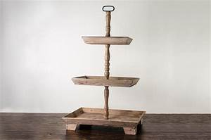 Pastry, Stand, Rustic, Wood, 3, Tier