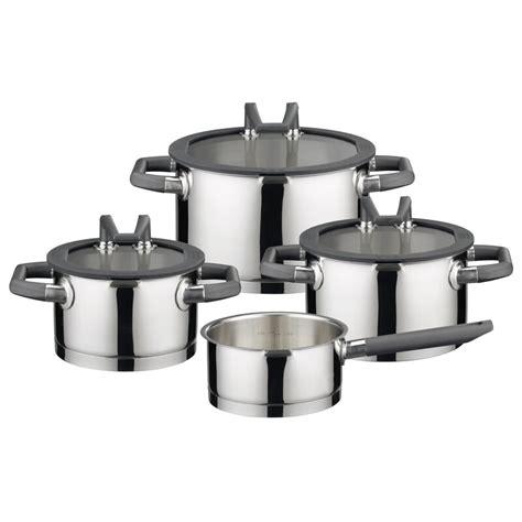 elo black pearl  piece stainless steel cookware set reviews wayfaircouk