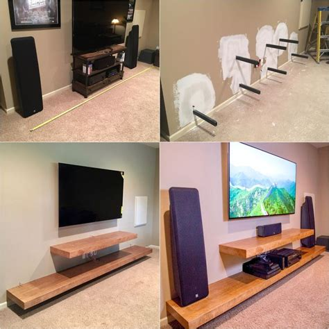 Decorating Ideas For Entertainment Center Shelves by The 25 Best Floating Entertainment Center Ideas On