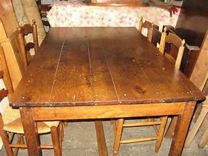 Table Ancienne De Ferme : table de ferme ch ne occasion clasf ~ Teatrodelosmanantiales.com Idées de Décoration