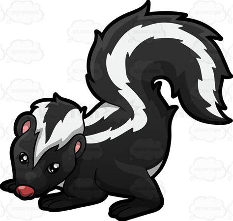 Skunk Clipart A Skunk Clipart By Vector