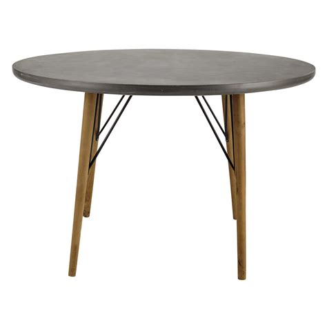 wooden dining table d 120cm cleveland maisons du monde