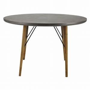 Table Salle A Manger Ronde : table ronde de salle manger en bois d 120 cm cleveland maisons du monde ~ Teatrodelosmanantiales.com Idées de Décoration