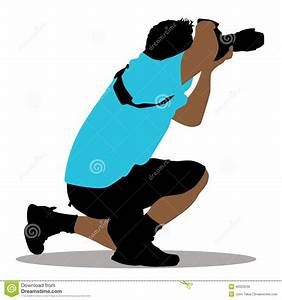 Kneeling grapher stock vector Image of people