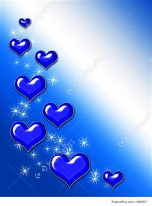 Release Of Information Template Holidays Blue Heart Background Stock Illustration