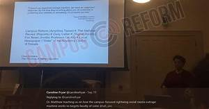 UNC lecture warns profs of 'right-wing media outrage machine'