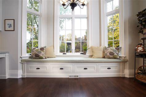 livingroom bench built in window bench traditional living room