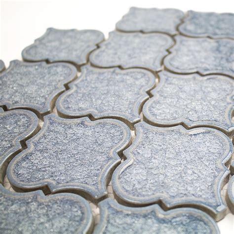 blue arabesque tile brisk blue arabesque glass tile