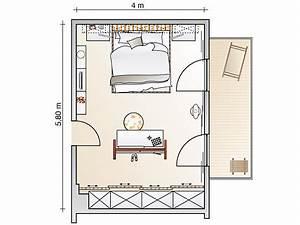 Kleines Schlafzimmer Einrichten Grundriss : raumteiler als blickfang schlafzimmer sch ner wohnen ~ Markanthonyermac.com Haus und Dekorationen