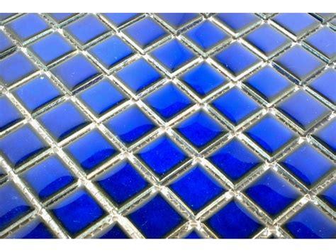 glazed ceramic cobalt blue mosaic