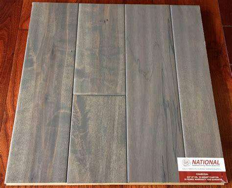 Charcoal Maple Handscraped Hardwood Flooring