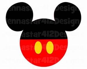Mickey Mouse Head Shape Black | Clipart Panda - Free ...
