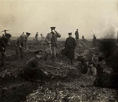 Trench Digging Soldiers Royal Engineers War Animated