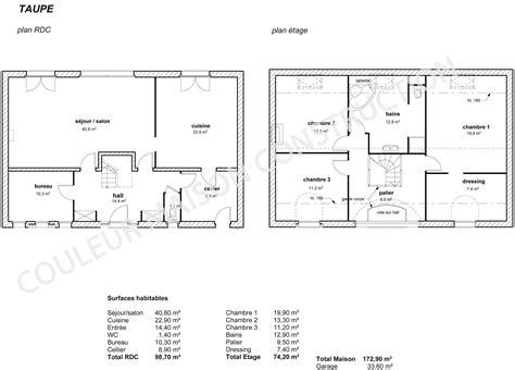 exemple de plan maison individuelle maison moderne