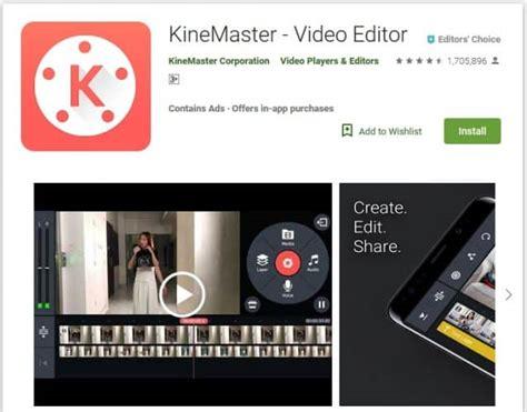 Aplikasi edit foto jadi video terbaik yang terakhir dalam daftar ini, sebenarnya tak hanya mampu menggabungkan foto jadi video saja. Download KineMaster MOD APK Pro Full Versi Update Terbaru 2019