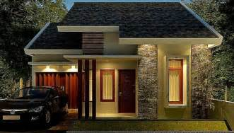 model rumah minimalis satu lantai tampak depan unik