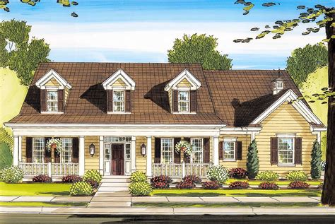 Beautiful Country Exterior 39118ST Architectural