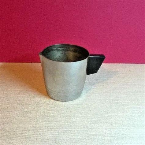 french vintage st louis chrome pure copper milk jug black bakerlite type handle pure copper