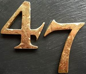 15quot 38mm and 2quot 50mm rustic copper solid brass 1 to 2 With copper house numbers and letters