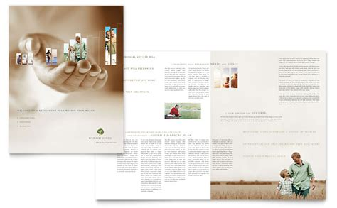 retirement investment services brochure template word