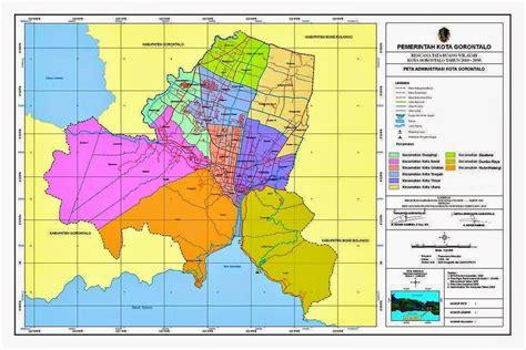bpbd kota gorontalo peta daerah rawan bencana  wilayah