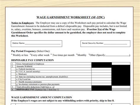 department  education garnishment worksheet