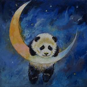 Panda Stars Painting by Michael Creese