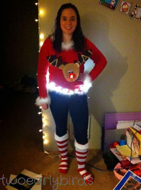 diy ugly christmas sweater with lights 2014 2015 fashion