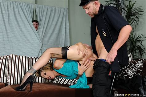 milf dominatrix julia ann fucking a sub and police officer