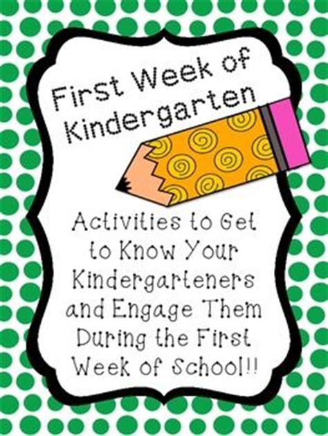week of kindergarten activities to get to them 988 | 3a19d4f4d1eac0ba70949a55aac74b5d